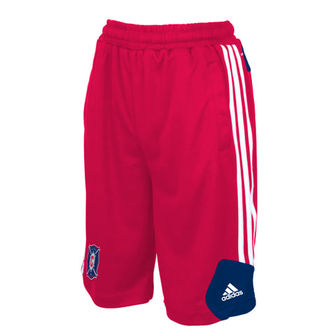 Chicago Fire Adidas Youth ClimaLite Training Shorts - Dino's Sports Fan Shop