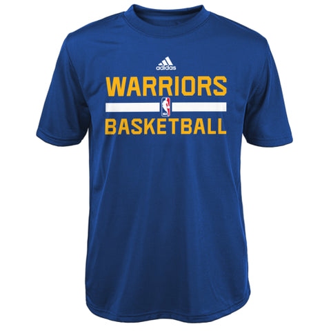 036ac8934 Golden State Warriors Adidas Blue Climalite Practice Youth Shirt - Dino s  Sports Fan Shop