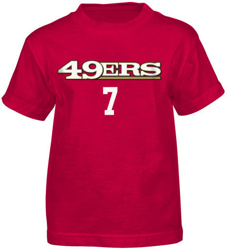 the best attitude aedb5 949e1 Colin Kaepernick #7 San Francisco 49ers NFL Youth Red Shirt