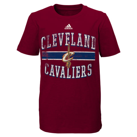 Cleveland Cavaliers Adidas Maroon Faded Youth Shirt - Dino's Sports Fan Shop