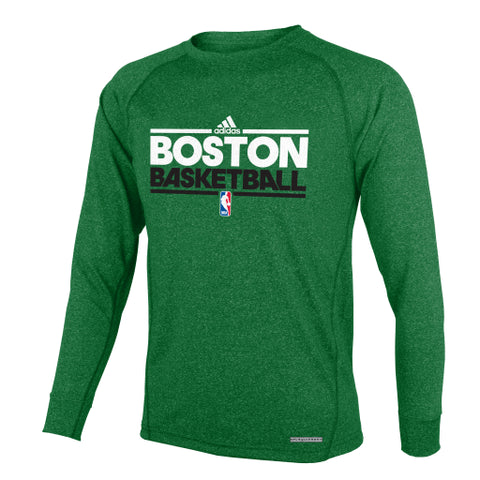 Boston Celtics Adidas L/S Practice Youth Shirt - Dino's Sports Fan Shop
