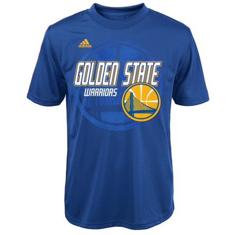 Golden State Warriors Adidas Blue Youth Shirt - Dino's Sports Fan Shop