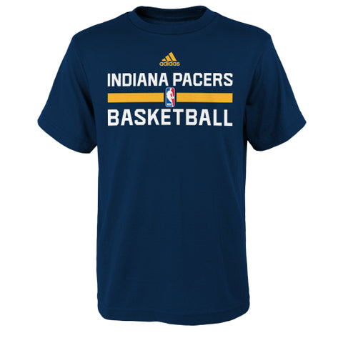 Indiana Pacers Adidas Blue Practice Youth Shirt - Dino's Sports Fan Shop