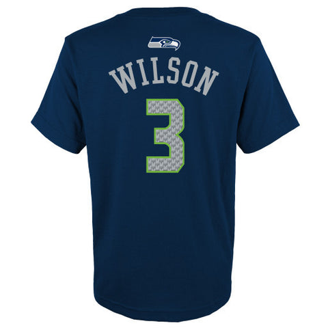Russell Wilson #3 Seattle Seahawks NFL Youth Shirt - Dino's Sports Fan Shop - 1