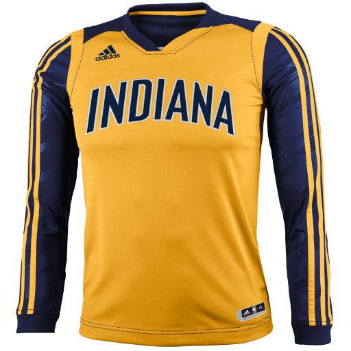 big sale 525bf 99614 Indiana Pacers adidas Youth On-Court Shooter Long Sleeve T-Shirt
