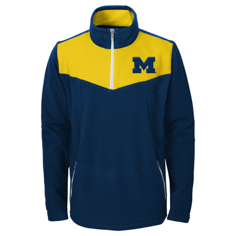 Michigan Wolverines Gen2 Youth Navy Quarterzip Pullover - Dino's Sports Fan Shop