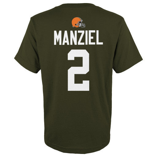 sports shoes 3805d 90294 Johnny Manziel #2 Cleveland Browns NFL Youth Shirt