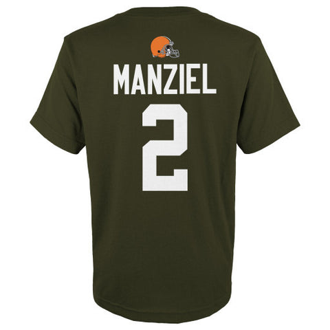 Johnny Manziel #2 Cleveland Browns NFL Youth Shirt - Dino's Sports Fan Shop - 1