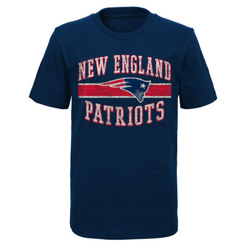 New England Patriots NFL Youth Blue Shirt - Dino's Sports Fan Shop