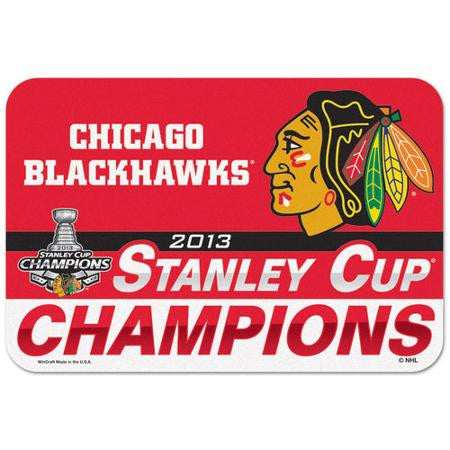 Chicago Blackhawks Wincraft 2013 Stanley Cup Champions 20x30 Mat - Dino's Sports Fan Shop