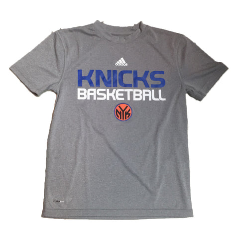 New York Knicks Adidas ClimaLite Basketball Practice Youth Shirt - Dino's Sports Fan Shop