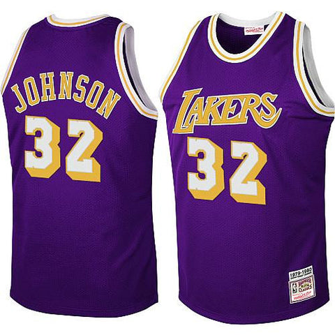 Magic Johnson #32 Los Angeles Lakers Adidas Purple Soul Hardwood Classic Stitched Jersey - Dino's Sports Fan Shop