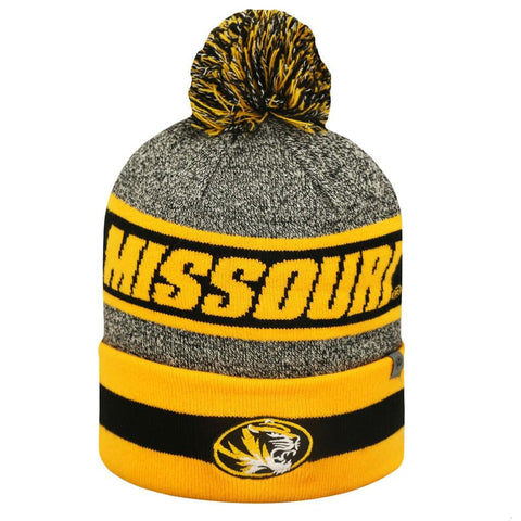 Missouri Tigers Top of the World Cumulus Striped Cuffed Knit Hat - Dino's Sports Fan Shop