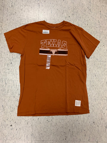 Texas Longhorns Retro Brand Orange Logo Line Shirt