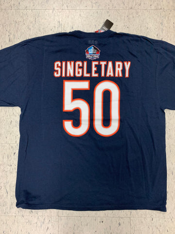 Chicago Bears Mike Singletary #50 Adult NFL Hall Of Fame Blue Shirt (XXL)
