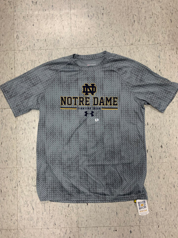 Notre Dame Fighting Irish Adult Under Armour Loose Gray Shirt