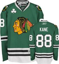 Patrick Kane #88 Chicago Blackhawks Reebok Youth St. Patrick's Day Premier Jersey - Dino's Sports Fan Shop