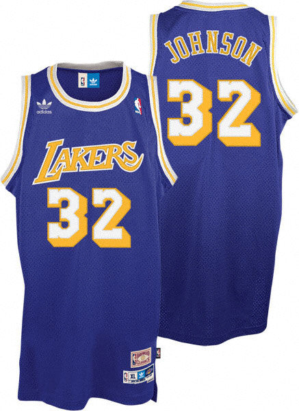 on sale 63af1 d8378 Magic Johnson #32 Los Angeles Lakers AdidasYouth Soul Swingman Road Jersey