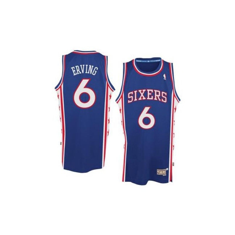 new products fc046 f73e6 Julius Erving #6 Philadelphia 76ers Adidas Hardwood Classics Youth Jersey