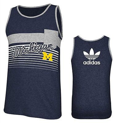 Michigan Wolverines Adidas Navy College Classics Tank Top - Dino's Sports Fan Shop