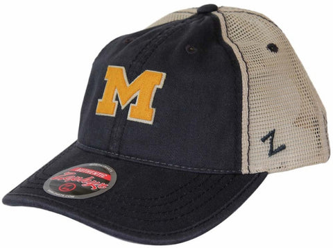 "Michigan Wolverines Zephyr ""Summertime"" Adjustable Mesh Trucker Hat - Dino's Sports Fan Shop"
