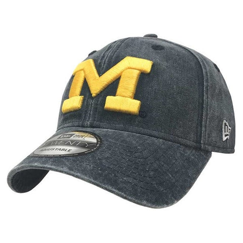Michigan Wolverines New Era Rugged Wash 9TWENTY Adjustable Hat