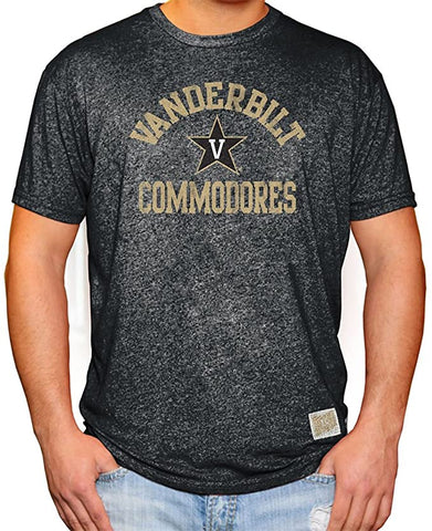 Vanderbilt Commodores Adult Retro Brand Mock Twist Black Shirt