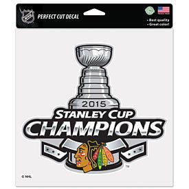 Chicago Blackhawks Wincraft 2015 Stanley Cup Champions Decal - Dino's Sports Fan Shop