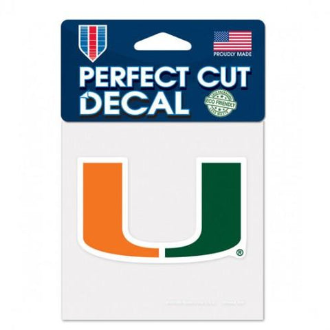 Miami Hurricanes Wincraft Perfect Cut Decal 4x4