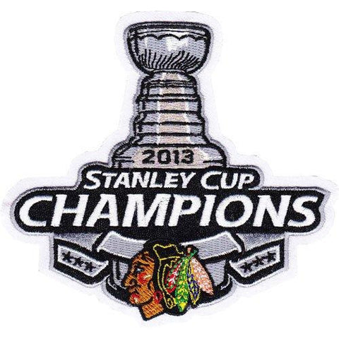 Chicago Blackhawks 2013 NHL Stanley Cup Final Champions Championship Patch - Dino's Sports Fan Shop
