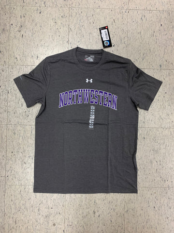 Northwestern Wildcats Adult Under Armour Gray Shirt