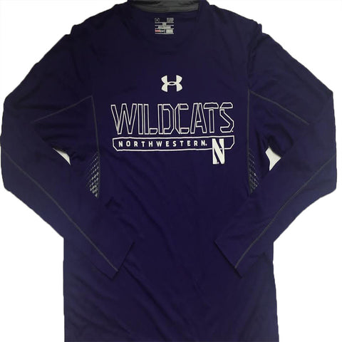 Northwestern Wildcats Under Armour Purple Men's L/S Shirt - Dino's Sports Fan Shop
