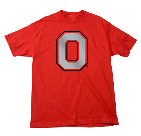 Ohio State Buckeyes Delta Pro Weight Red Athletic O Logo Shirt - Dino's Sports Fan Shop