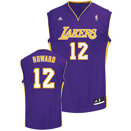 reputable site ee3e3 22d87 Dwight Howard #12 Los Angeles Lakers adidas Youth Swingman Purple Jersey
