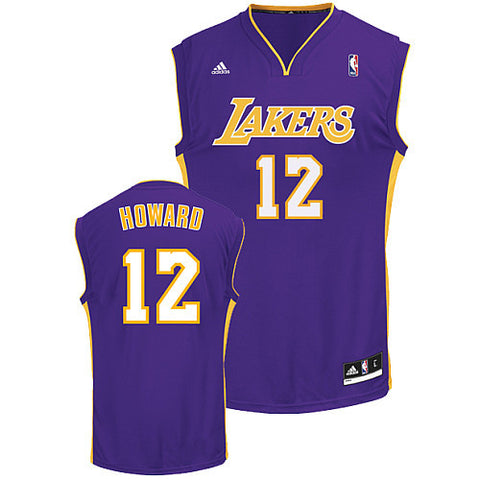 10c22eb41 Dwight Howard  12 Los Angeles Lakers adidas Youth Swingman Purple Jersey -  Dino s Sports Fan