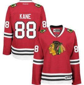 Patrick Kane #88 Chicago Blackhawks Reebok Women's Premier Player Road Jersey - Dino's Sports Fan Shop