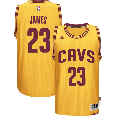 LeBron James #23 Cleveland Cavaliers Gold Replica Basketball Jersey By Adidas - Dino's Sports Fan Shop
