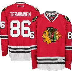 Teuvo Teravainen #86 Chicago Blackhawks Reebok Home Red Youth Premier Jersey - Dino's Sports Fan Shop
