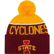 Iowa State Cyclones New Era NCAA Yellow/Red Adult Knit Hat