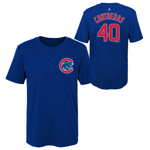 Willson Contreras Youth Blue Name and Number Shirt Outerstuff