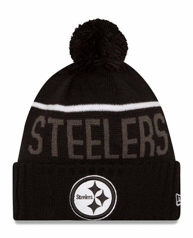 74d6d43c6569ac Pittsburgh Steelers New Era Black Sport Knit Hat - Dino's Sports Fan Shop