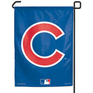"Chicago Cubs Wincraft Logo Garden Flag - 11"" x 15"" - Dino's Sports Fan Shop"