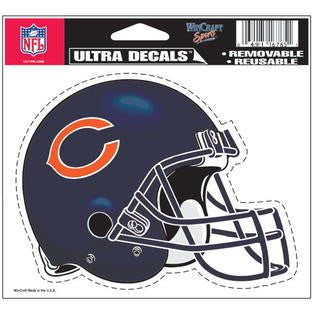 Chicago Bears Wincraft Helmet White 5x6 Decal - Dino's Sports Fan Shop