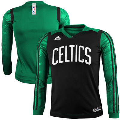 Boston Celtics Adidas Youth On-Court Impact Long Sleeve Shooting Shirt - Dino's Sports Fan Shop