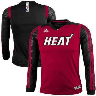Miami Heat Adidas Youth On-Court Impact Long Sleeve Shooting Shirt - Dino's Sports Fan Shop