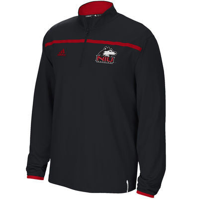 Northern Illinois Huskies NCAA Adidas Adult Black Quarter Zip Pullover - Dino's Sports Fan Shop