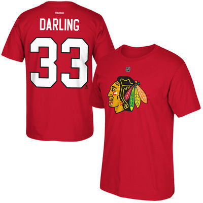 Scott Darling #33 Chicago Blackhawks Red Shirt - Dino's Sports Fan Shop