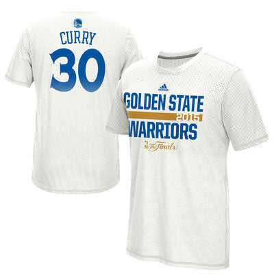 Stephen Curry #30 Golden State Warriors adidas NBA Finals Shooter Shirt - Dino's Sports Fan Shop