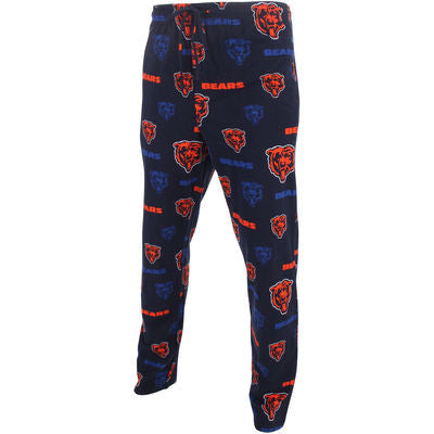 Chicago Bears Concept Sports NFL Navy Blue Adult All Over Pajama Pants - Dino's Sports Fan Shop