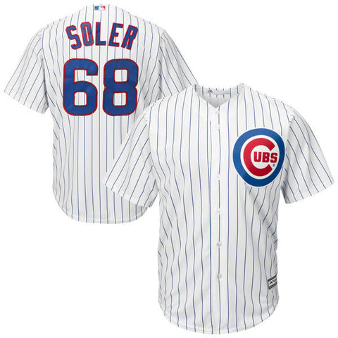 Jorge Soler #68 Chicago Cubs MLB Majestic White Replica Cool Base Youth Jersey - Dino's Sports Fan Shop